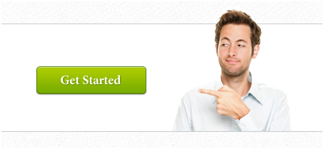 Man pointing to call to action button