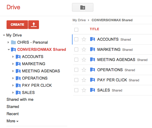 Organizing Shared Google Docs Maximize The Value Of Your Traffic - Google docs personal