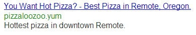 PPC Pizza Ad