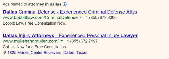 Dallas lawyers need someone to explain the value of sitelinks to them