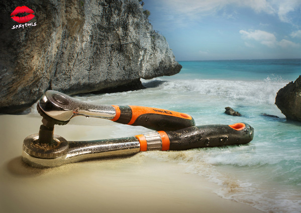 Tools Kissing on a Beach